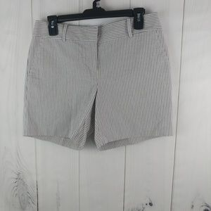 Ann Taylor Womens Flat Front Pinstripes Shorts